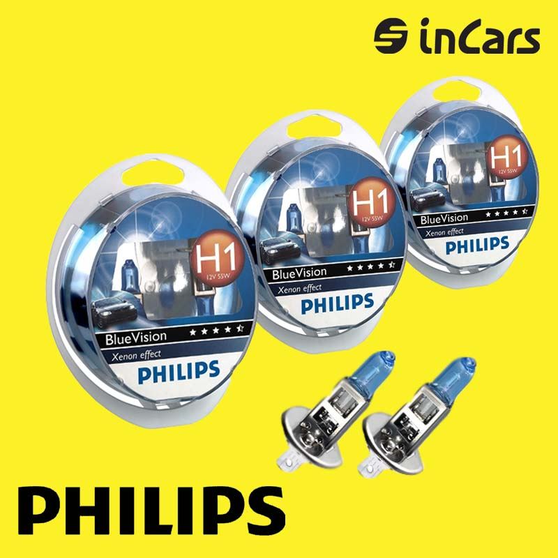 Автолампа Philips Bluevision H1 12258 bvusm